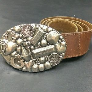 Guess Accessories - Guess mens belt with big cowboy style buckle cb7dabdd2861